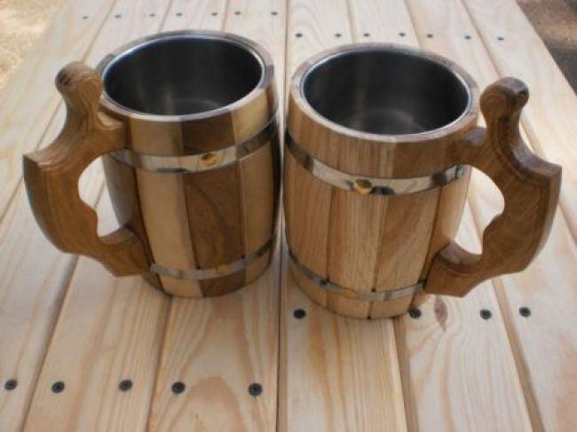 Wooden chiseled mug (0,5 l) (1) - 1