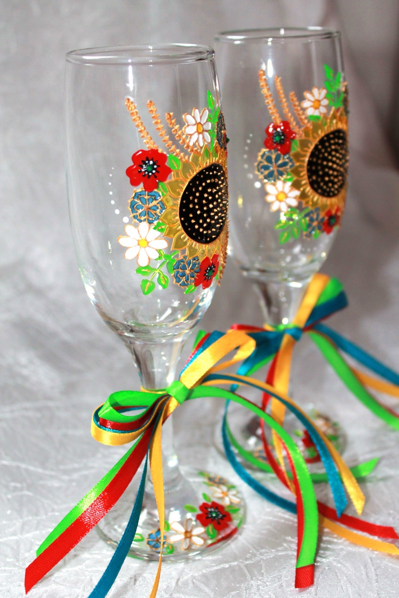"Glasses ""Ukrainian"" (1 pair) - 2"