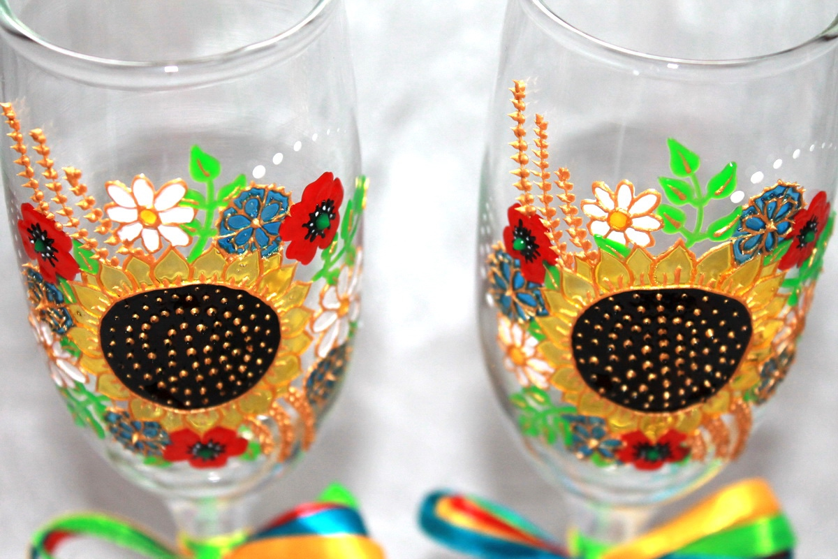 "Glasses ""Ukrainian"" (1 pair) - 1"