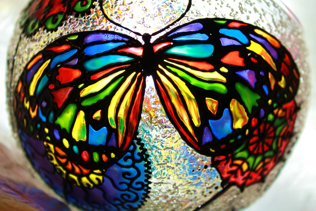 "Vase-candleholder ""Butterfly"" (1) - 1"