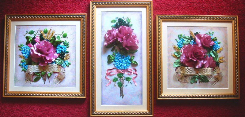 "Triptych ""Ancient roses"" (1) - 597"