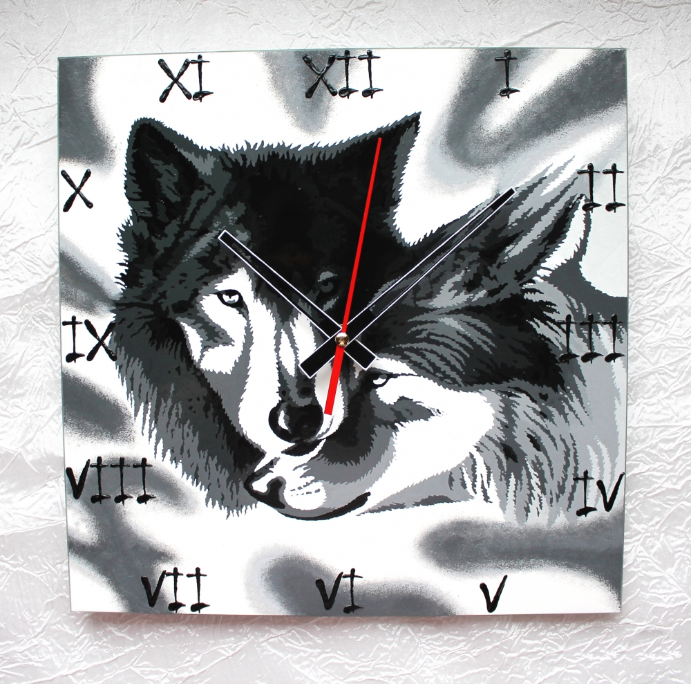 "Wall clock ""Wolves"" (25х25) (1) - 589"