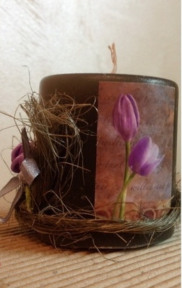 "Candle ""Crocuses"" (1) - 187"
