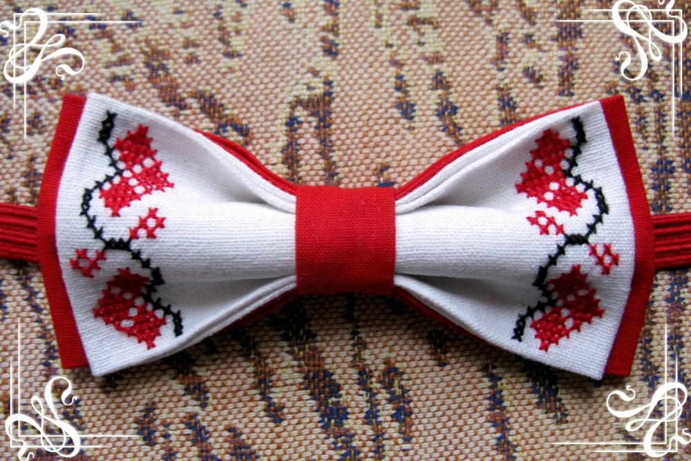 Вышивка для галстука бабочки